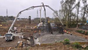 Bygging av en bro over elven Wisłok i Rzeszów