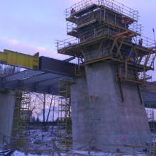 Rzeszów - Construction of Wantowy Bridge of the River Wisłok