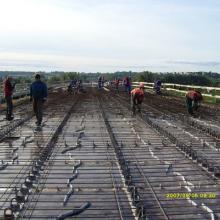 Renovering av bron över floden Wisła i Chełmo